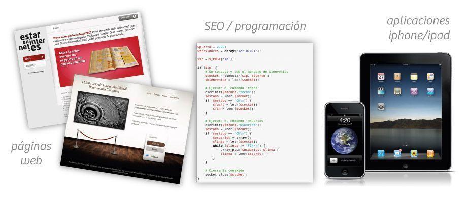 Páginas web, SEO, programación, aplicaciones iPhone iPad