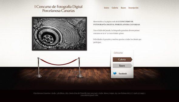 Página web Concurso de Fotografía Digital de Porcelanosa Canarias