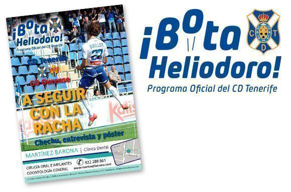 Programa del CD Tenerife ¡Bota Heliodoro!