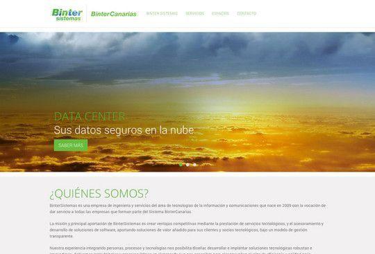 Página web de Binter Sistemas