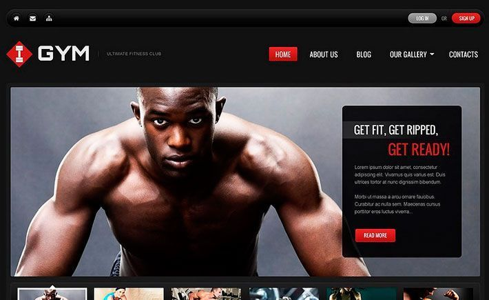 Tema WordPress para Gym