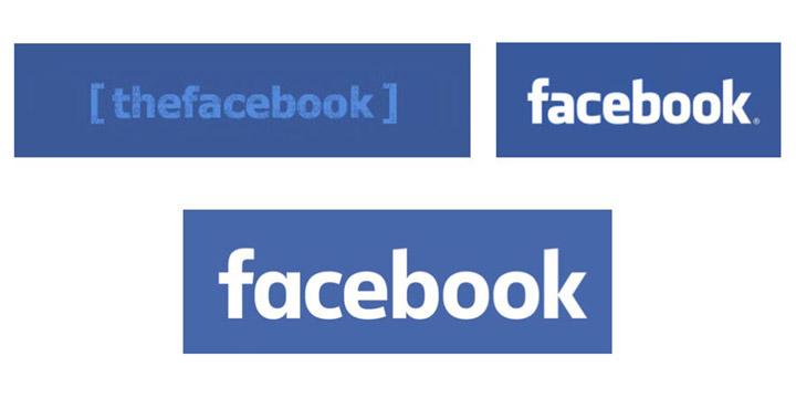 Evolución logo Facebook